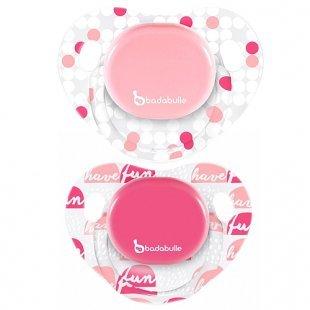 Badabulle - Schnuller Silikon 2er Pack rosa, Gr. 3