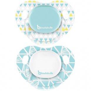 Badabulle - Schnuller Silikon 2er Pack blau, Gr. 1