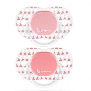 Badabulle - Schnuller Silikon 2er Pack rosa, Gr.1