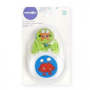 Babies R Us - Schnullerkette und -Box Monster