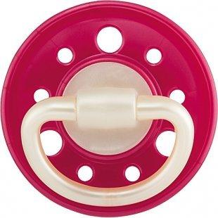 NIP - Schnuller Latex 1er Pack Cherry rosa, Gr.1