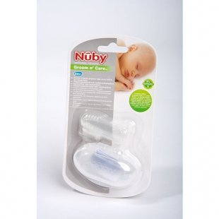 Nûby - Fingerzahnbürste mit Box