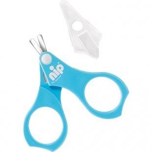 NIP - Nagelschere mit Schutzkappe blau
