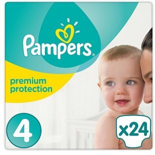 Pampers - Windeln Maxi Tragepack Premium Protection, Gr. 4 (24 Stück)