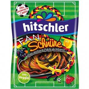 Hitschler - Fan Schnüre Schwarz Rot Gold, 125g