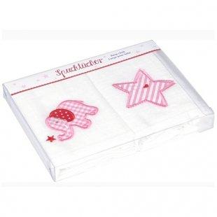 Coppenrath Verlag - Spucktücher 2er Pack rosa bestickt