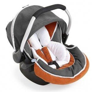 Hauck - Babyschale Zero Plus Select, Orange/Grau