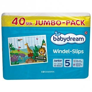 babydream Windel-Slips Junior Jumbo-Pack