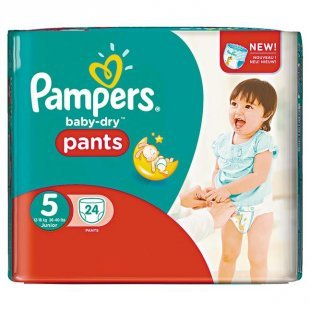 Pampers Baby Dry Pants Baby Dry Sparpack, Größe 5 Junior