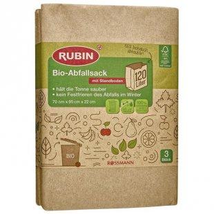 RUBIN Bio-Abfallsack mit Standboden 120 l