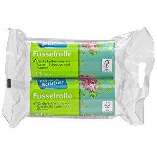 flink & sauber 2er Pack Austausch-Fusselrolle