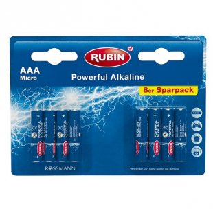 RUBIN Powerful Alkaline Batterien AAA