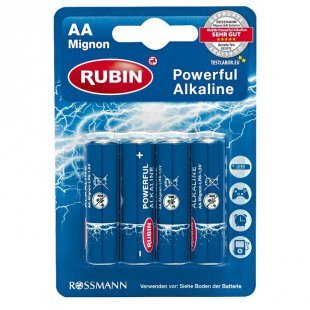 RUBIN Powerful Alkaline Batterie AA