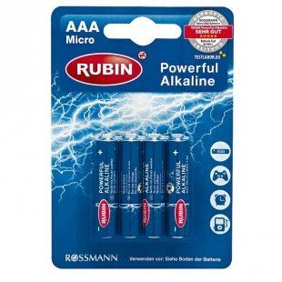 RUBIN Powerful Alkaline Batterie AAA