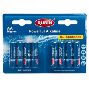 RUBIN Powerful Alkaline Batterien AA