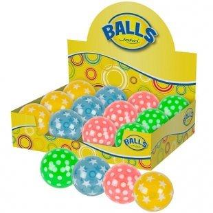 John - Light-Up Ball, Punkte und Sterne, sortiert
