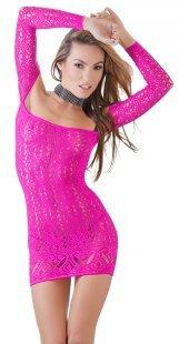 Kleid in Pink, schulterfrei