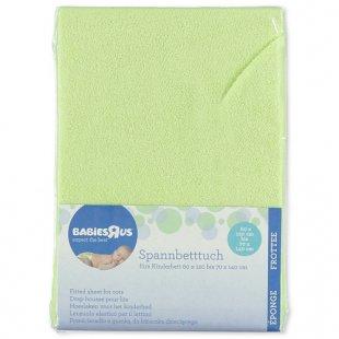 Babies R Us - Spannbetttuch Frottee, grün (60x120 + 70x140)