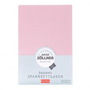 Zöllner - Spannbetttuch Frottee rosa (70x140)