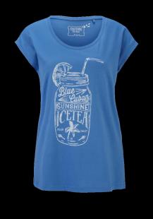 MUSTANG Damen T-Shirt blau Gr.XS