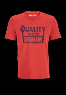 MUSTANG Herren T-Shirt rot Gr.L
