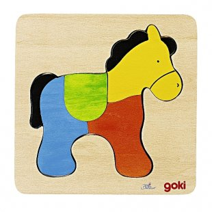 Goki - Holzpuzzle: Pferd