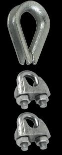 Drahtseilklemmen, verzinkt 6mm