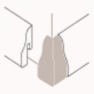 Außenecken Alu-Optik, Typ 2