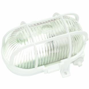Ovalleuchte, PVC, weiß, 60 Watt