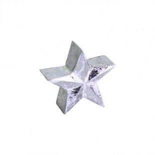 Holzstern Silver- Glam