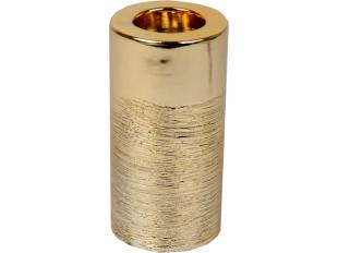 Kerzenhalter, rund, gold/silber