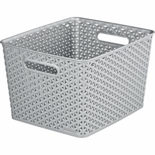 Aufbewahrungsbox My Style Korb L, silber, 18 L