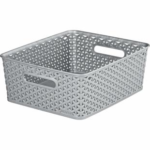Aufbewahrungsbox My Style Korb M, silber, 13 L