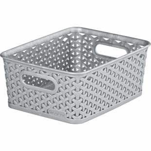 Aufbewahrungsbox My Style Korb S, silber, 4 L