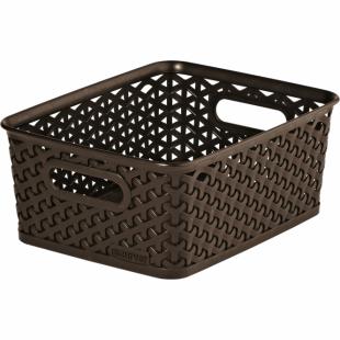 Aufbewahrungsbox My Style Korb S, dunkelbraun, 4 L