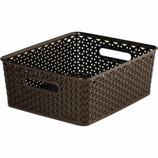 Aufbewahrungsbox My Style Korb M, dunkelbraun, 13 L