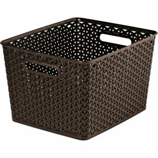Aufbewahrungsbox My Style Korb L, dunkelbraun, 18 L