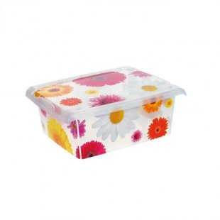 Fashion-Box Pink Flowers, 39x39x14cm