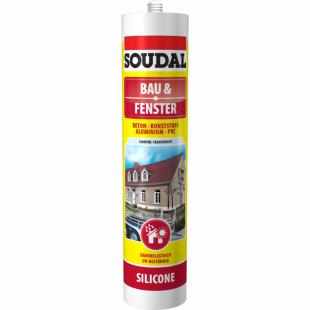 Soudal Bau + Fenster Silikon grau 300 ml