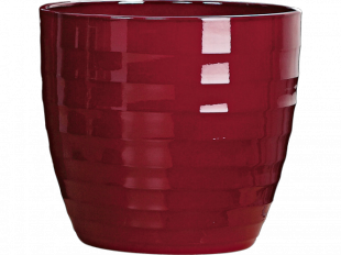 Keramikübertopf 923 Basic Dark Red