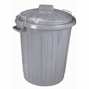 Mülleimer Charlie-Tonne L, grau, 46 L
