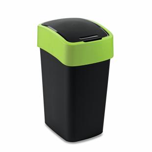 Abfallbehälter Flip Bin, 25 L, schwarz/grün