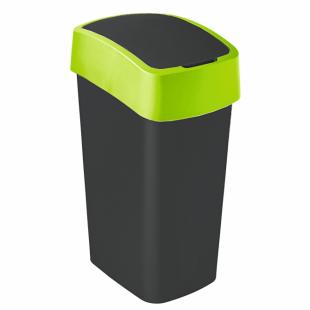Abfallbehälter Flip Bin, 50 L, schwarz/grün