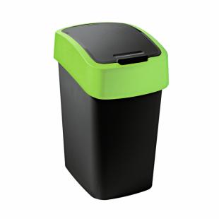 Abfallbehälter Flip Bin, 10 L, schwarz/grün