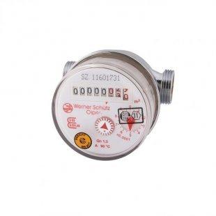Wasserzähler für Warmwasser, Qn 1,5 80mm R 1/2´´