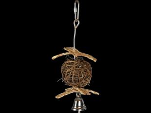 Weidenball mit Glocke, Ø5,5x18 cm