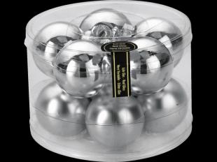 Weihnachtskugeln Silber 60mm, aus Glas