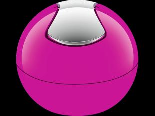 Kosmetikeimer Bowl shiny dark pink
