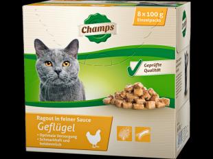 Katzenfutter Geflügel, 8x100 g
