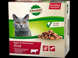 Katzenfutter Rind, 8x100 g